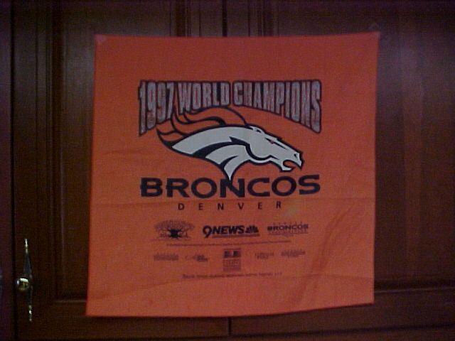 1997 World Champions Denver Broncos Orange Banner #DenverBroncos