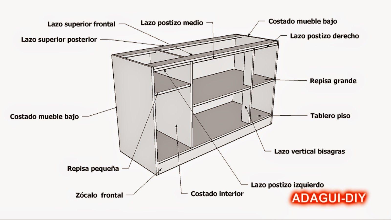 diseños de planos muebles de cocina hechas de paletas de maderas ...