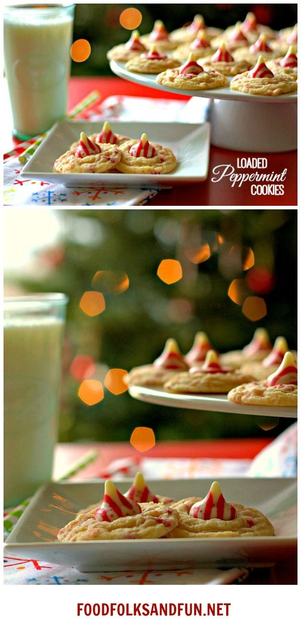 Loaded Peppermint Cookies for all of you peppermint lovers out there