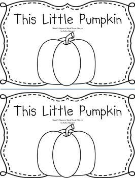 Pumpkin Predictable, Rhyming Emergent Reader Book: