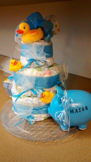 Diaper cake for boy