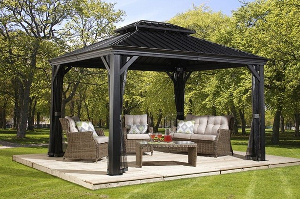 Hardtop Gazebo Big Lots 3 Outdoor Living Patio Gazebo