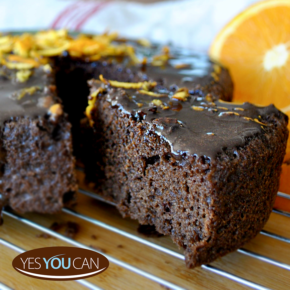 Unbelievable how fluffy this vegan cake is! YesYouCan Chocolate & Orange cake is part of our healthier range, made with cacao and real orange flavour. Use our Vegan Egg Replacer to make it egg free.