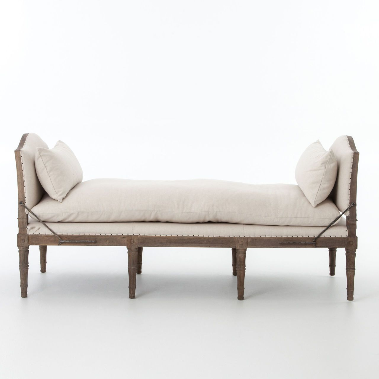 Fabulous Allison French Oak Upholstered Chaise Bed End Bench Andrewgaddart Wooden Chair Designs For Living Room Andrewgaddartcom