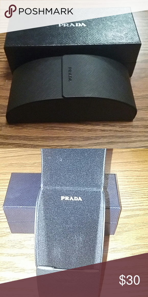 e1ae6ffe08c New black prada sunglass case. New black prada sunglass case. If interested  make an offer . Prada Accessories Sunglasses