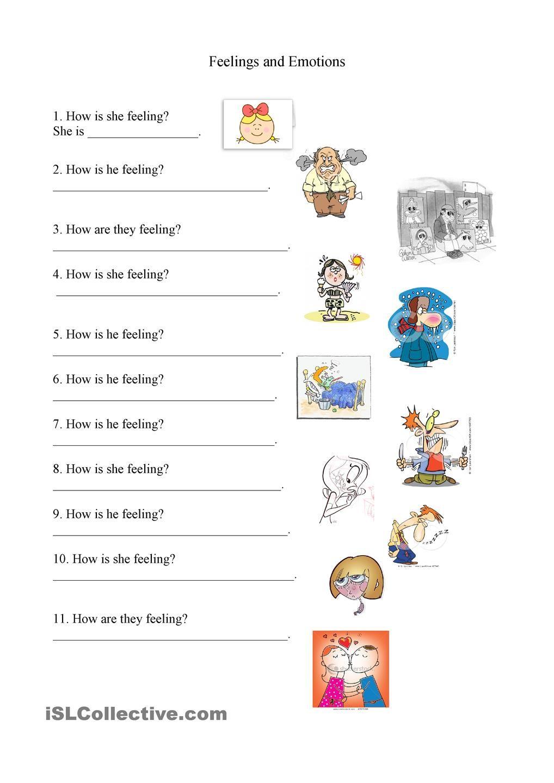 Feelings and Emotions worksheet | School Counseling/PBS | Pinterest