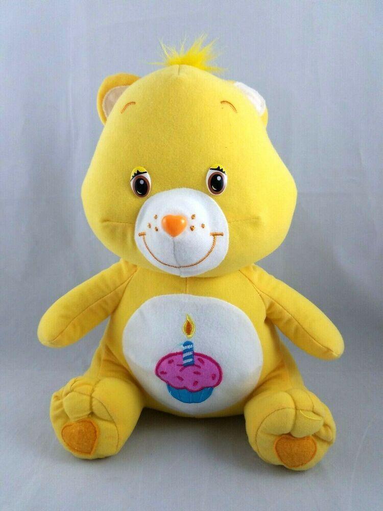Care bear birthday cupcake yellow plush toy 2006 stuffed