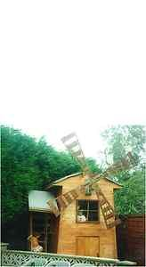 Plans to build a playhouse windmill for garden wendy house den child -
