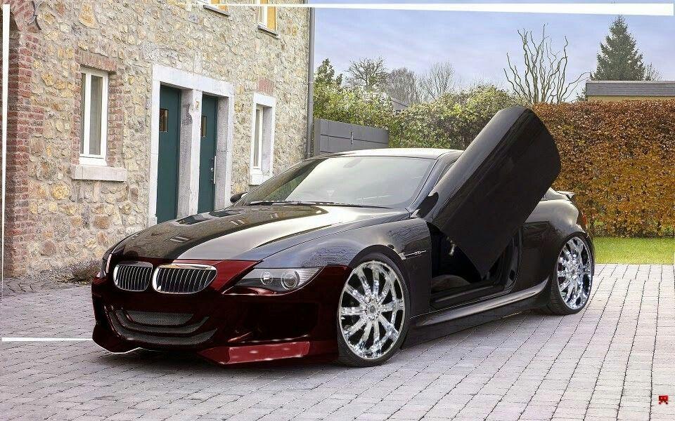 Bmw E63 M6 Black Lambo Doors Bmw Bmw M6 Bmw Cars