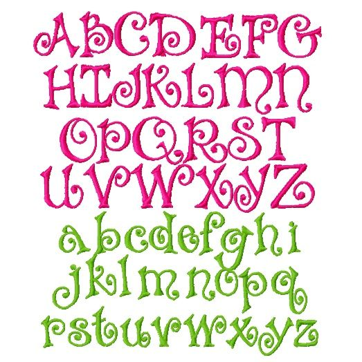 awesome letter fonts