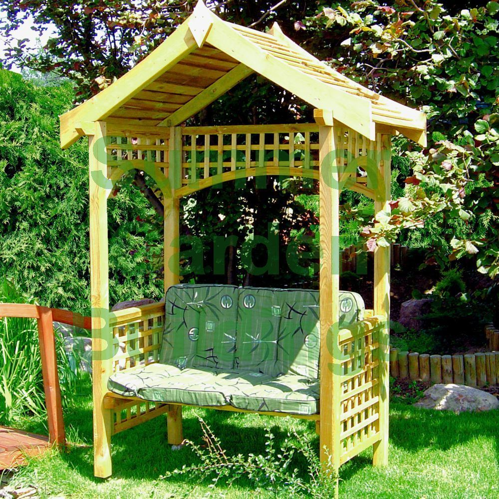Wooden Garden Arbour Bench Seat Pressure Treated Timber