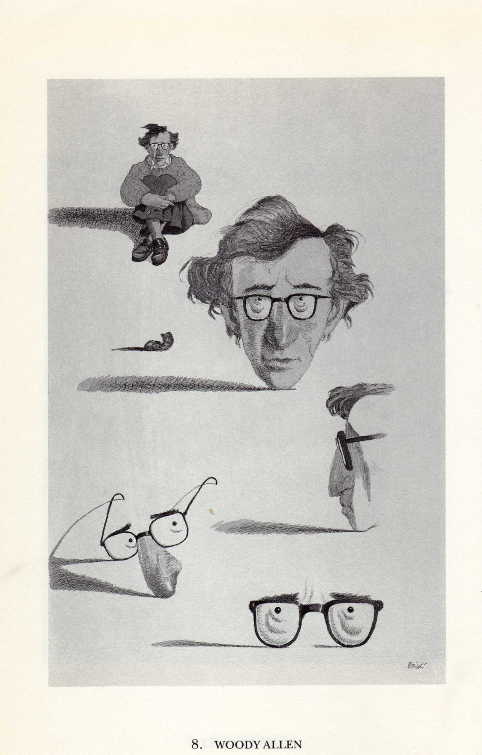 Tullio Pericoli Woody Allen Illustration Ilustraciones Arte