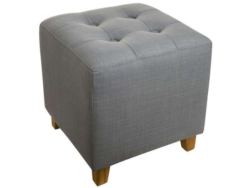 pouf tissu. Black Bedroom Furniture Sets. Home Design Ideas