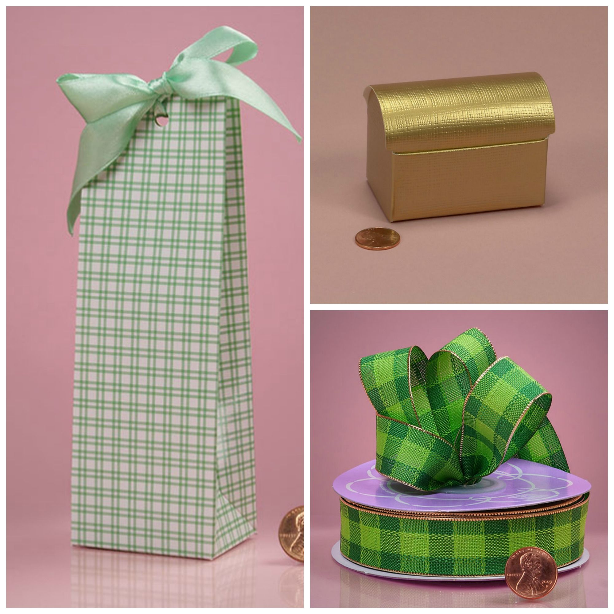 St. Patrick\'s Day Party Favor Ideas - Green and White Checker Box ...