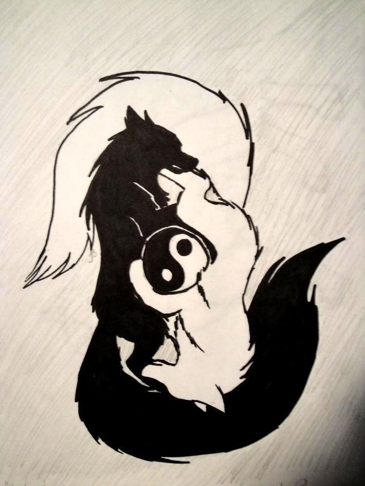 9dba2f865b260 This is pretty cool too... | tattoo in 2019 | Yin yang tattoos, Wolf ...