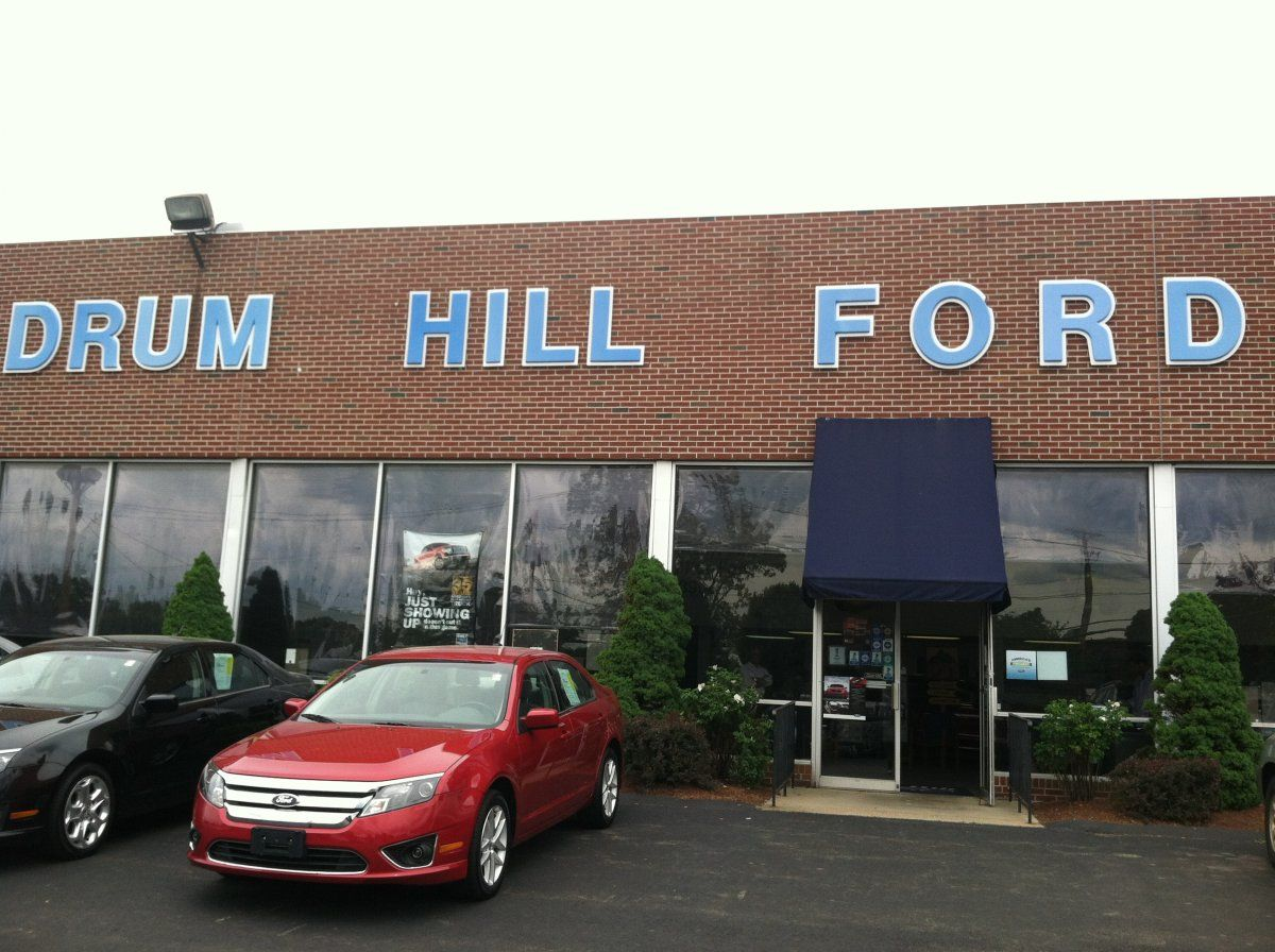 Drum Hill Ford in Lowell, MA proudly displaying their BBB