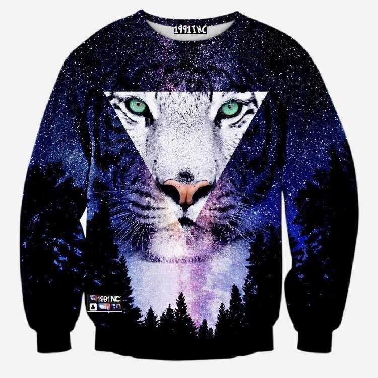 ab289f4b1737 Men women harajuku print animal leopard tiger cat pullover 3d hoodies funny  galaxy space sweatshirt sudaderas tops clothes
