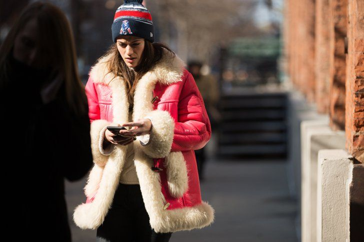 Pin for Later: 15 Tips For Styling the Puffiest Coat in Your Closet With a Graphic Hat