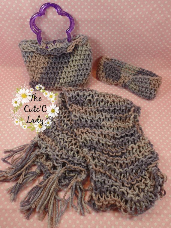Winter Scarf Set  0614 by TheCuteCLady on Etsy