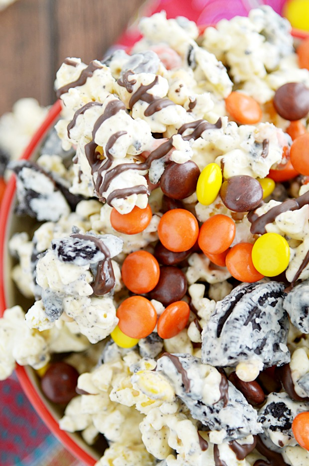 Ultimate Peanut Butter Popcorn - Something Swanky