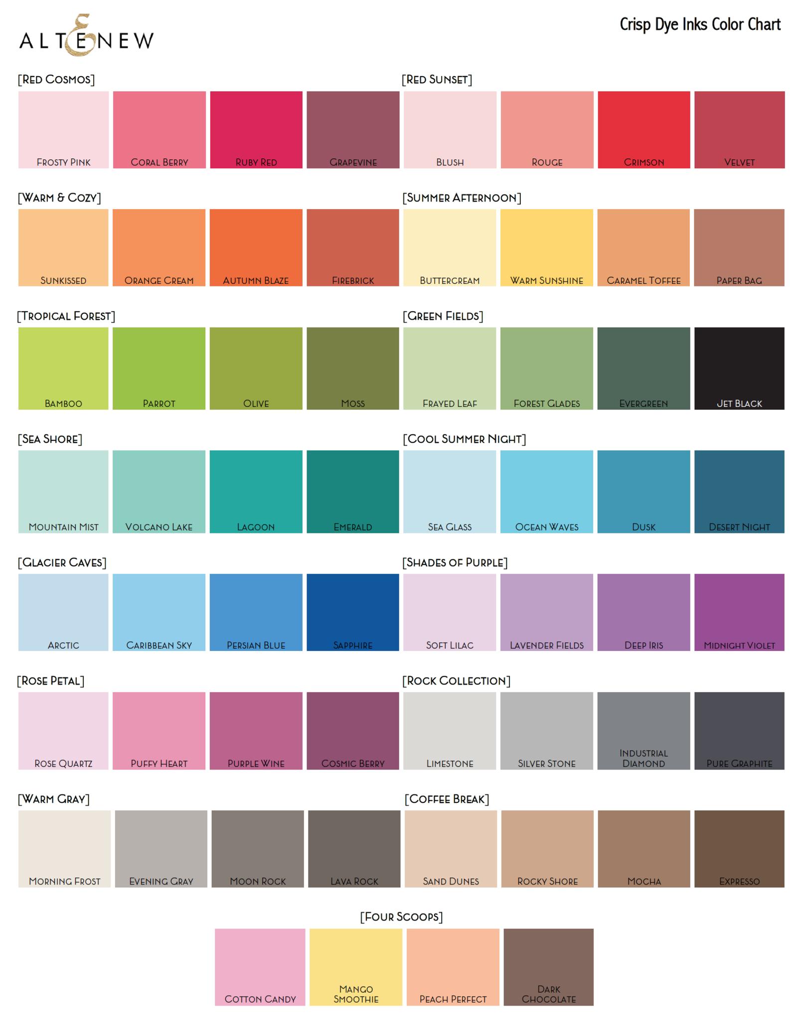 Color swatches altenew paper le papier carta pinterest color swatches altenew geenschuldenfo Gallery