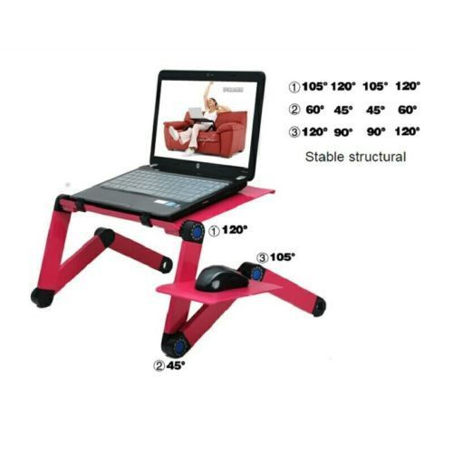 Newest Tablet Holder Stand multifuntional for bed/sofa or chair. foldable table