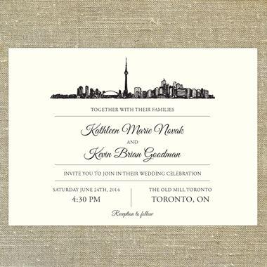 Toronto skyline pixie chicago wedding invitations pixie chicago toronto skyline pixie chicago stopboris Choice Image