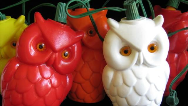 2 sets vintage owl patio string lights camping rv party awning