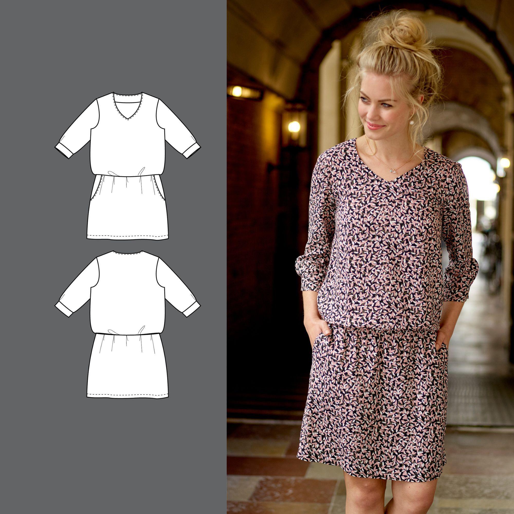 Kleid - STOFF & STIL | Nähen | Pinterest | Stoff stil, Stoffe und Stil