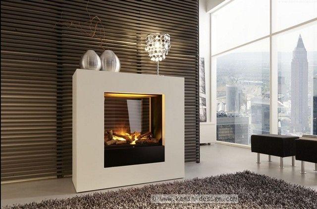 LINEA-EL Raumteilerkamin #wohnzimmer ideen #ModerneKamine - wohnzimmer ideen kamin