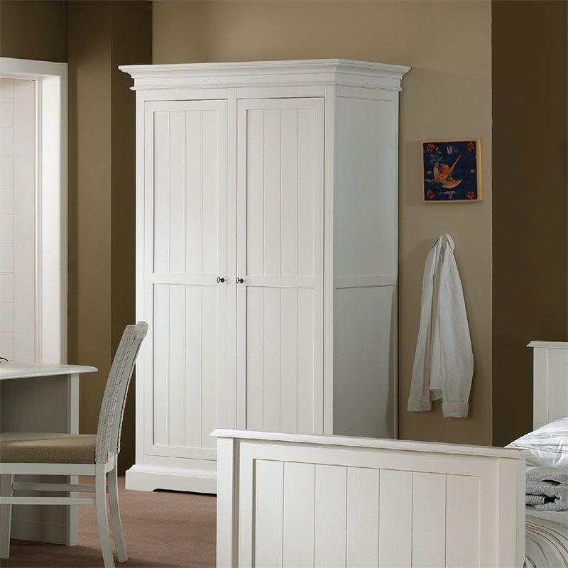 armoire enfant blanche en bois massif berenice - Chambre En Bois Massif