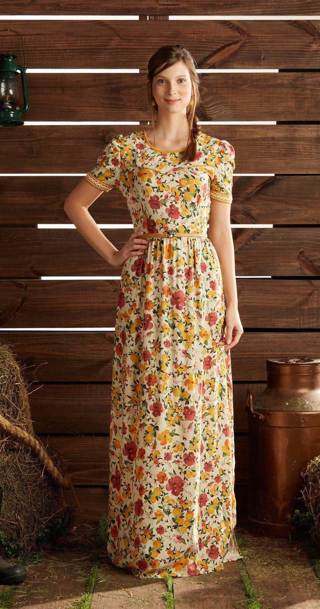 Só na Antix Store você encontra Vestido Longo Laranjeira com exclusividade  na internet 06e1f89965