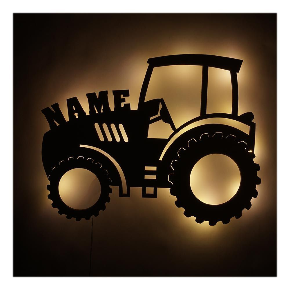 Children S Lamp Night Light Tractor Gift Item V5 With Name In 2020 Childrens Lamps Gifts For Boys Wall Lights Diy