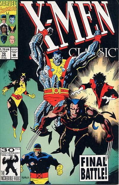 X Men Classic Vol 1 70 Comic Books Art Marvel Comics Covers Comic Book Heroes