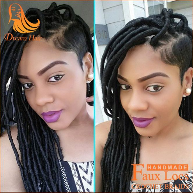 "Inspiration ""Faux locs Hairstyles"" natural hair"