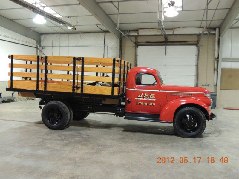 1942 Chevy 1 1 2 Ton Stake Body Dump Truck Dual Wheel Pickup Trucks Farm Trucks Trucks