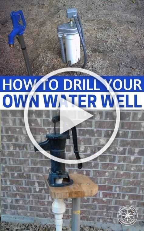 How To Drill Your Own Water Well - The water well drilling ...