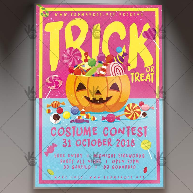 Halloween Candy - Seasonal Flyer PSD Template #blood #ghostparty - zombie flyer template
