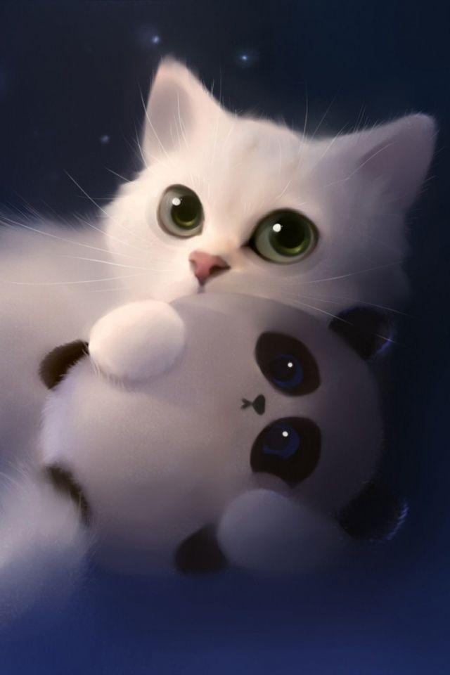 Sweet Nightmare Mobile Wallpaper Mobiles Wall Cute Cat Wallpaper Cute Animal Drawings Kawaii Cat