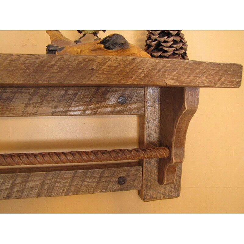 Wave Ledge Shelf With Towel Bar by BuckCreekFurnishings on Etsy ...