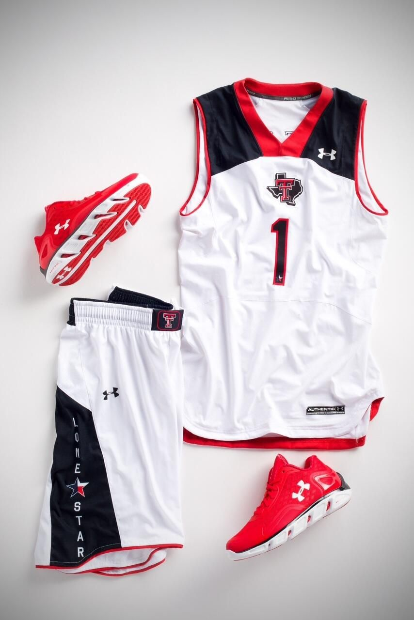 "54b3a542422 nike basketball uniforms | Texas Tech New Under Armour ""Lone Star""  Basketball Uniforms"