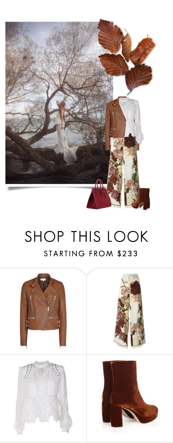"""""""brownish"""" by izoche ❤ liked on Polyvore featuring Valentino, self-portrait, Miu Miu and Mansur Gavriel"""