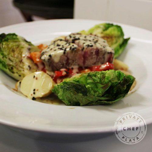 El pescado en la ensalada, lo mejor! #pez #ensalada #saludable
