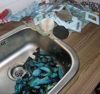 ...And Then We Set It On Fire: Shibori Folding - second bath