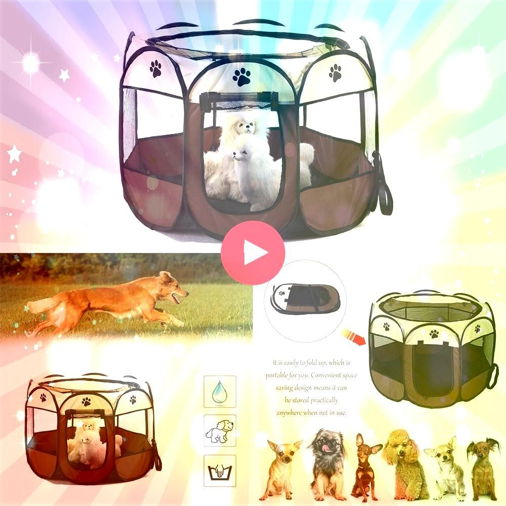 Free Dog House Pet Tent Folding Octagonal Pet Fence Oxford Cloth Outdoor Pet Cat Dog  Suggestions Nowadays pets are whole family unit members but this has not always been...