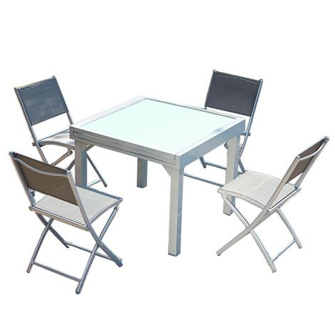 Molvina 4 : table de jardin extensible en aluminium 8 ...
