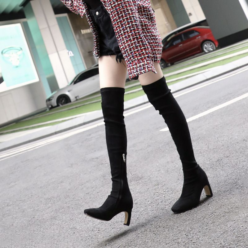 8196a49a13555 Handmade Square Toe over the Knee Boots in 2019 | High Boots | Boots ...