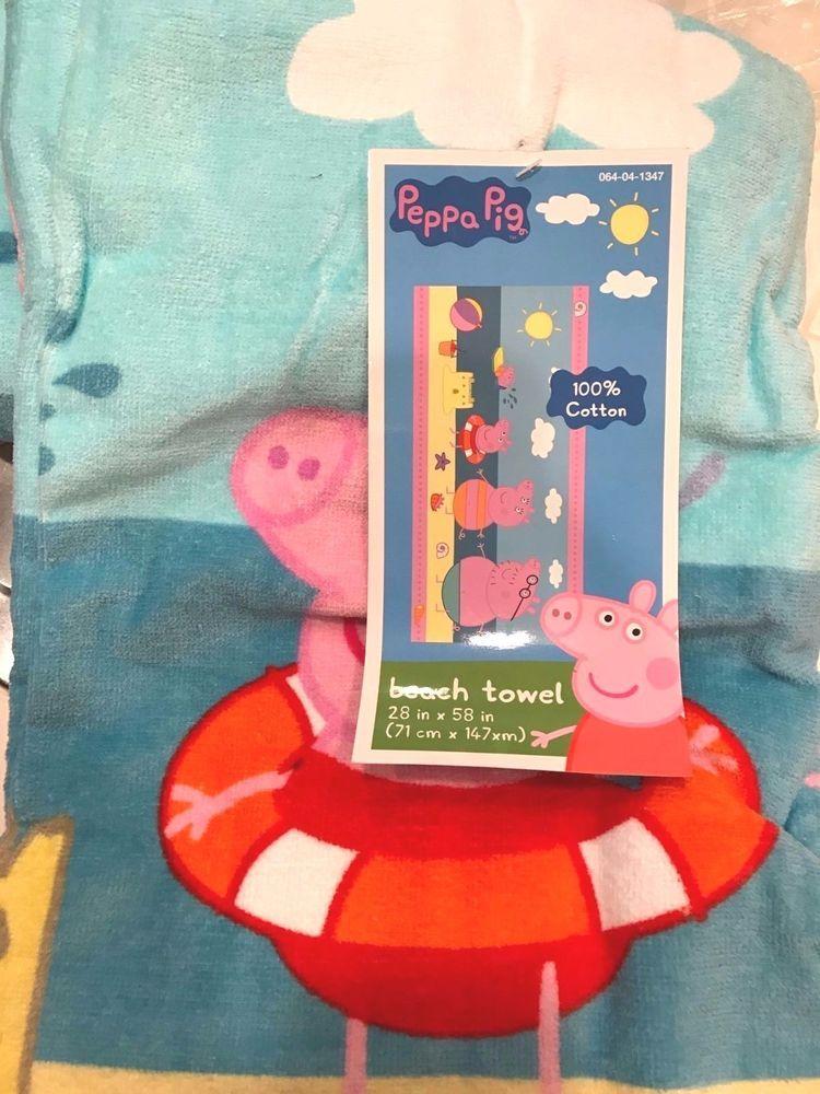 peppa pig beach towel childrens cotton towel 28x58 in pinterest