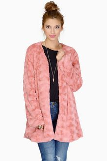 Powder Room Coat Jackets Fashion Casual Womens Faux Fur Coat