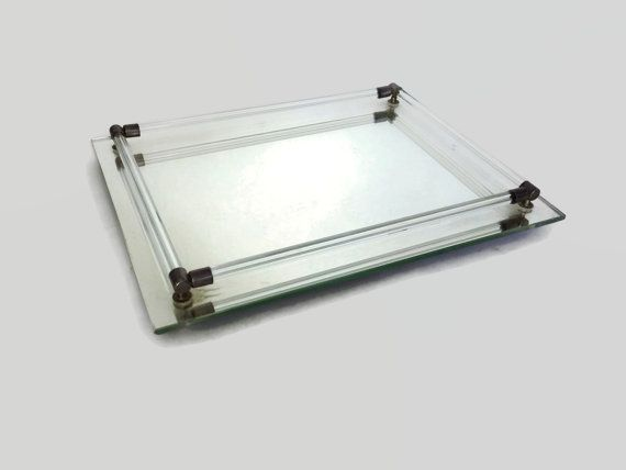 Vintage Mirrored Vanity Tray-Godinger-Perfume Tray-Bathroom Tray-Home Decor-Vintage  Vanity Tray-Dresser Tray-Mid Century Decor - Vintage Mirrored Vanity Tray-Godinger-Perfume Tray-Bathroom Tray